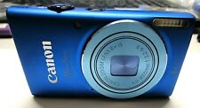 Canon Powershot ELPH 115 IS Digital Camera Blue 16Mp 8x Optical Zoom Charger +