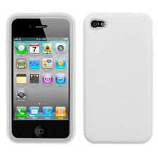 For iPhone 4s/4 Solid Skin Silicone Protector Cover Case (Translucent White)
