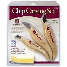 Flexcut 3 Piece Chip Carving Set 952592 Chip Mini & Skew Carving Tool