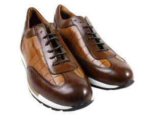 IVAN TROY Maury Brown Monk Strap Italian Leather Dress Shoes/Oxford Office Shoes