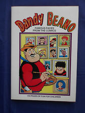 THE DANDY AND THE BEANO FAMOUS FACES FROM THE COMICS 1992 - 144 PAGES - N/M COND