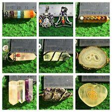 Quartz Amethyst Agate Chakra Pendants Jewellery Necklace [Pick your Own] UK #B1