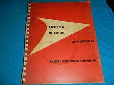 1960'S 60'S HONDA SET-UP INSTRUCTIONS 50 90 125 150 SHOP SERVICE REPAIR MANUAL