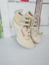 REEBOK CLASSIC Sz 6 aerobic Freestyle Easytone HIGH TOP beige shoes womens