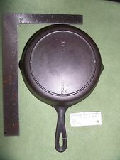 Vintage Lodge #5 Cast Iron Skillet  3 Notch T. E 11 2 3