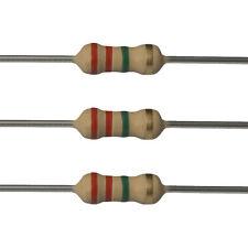 100 x 2.2M Ohm Carbon Film Resistors - 1/4 Watt - 5% - 2M2 - Fast USA Shipping