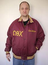 Vtg 70s OMEGA THETA CHI Doc Morrison FRATERNITY Greek Baseball LETTERMAN Jacket