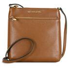Michael Kors Riley Small Flat Leather Crossbody - Luggage