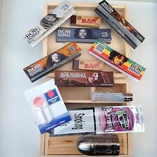 LARGE WOOD ROLLING BOX KIT, Please See Description ,Tobacco Weed Grass Etc