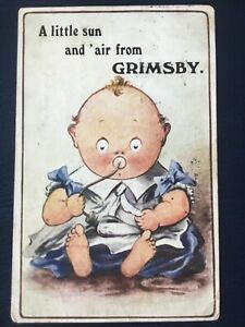 Postcard A Little Son And 'Air From Grimsby Wildt & Kray 1912