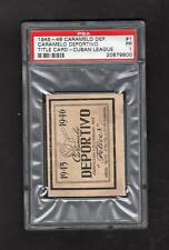 1945 Caramelo Cuban League TITLE CARD #1  -- PSA Graded ~ Extremely Rare!