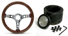 SAAS 14 Inch 350mm Wooden Steering Wheel Inc Boss Kit Holden Commodore VB VC VH