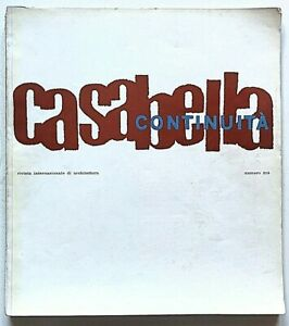 Casabella Continuità n. 216 1957 Rivista Architettura Rogers BBPR  Marco Zanuso