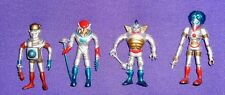 Four Vintage Colorforms Outer Space Men 2.5 inch Reproduction Figures (1980s)