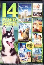 14 FAMILY ADVENTURE MOVIES (DVD, 4-Disc Set, Over 21 Hours, 2013) - NEW