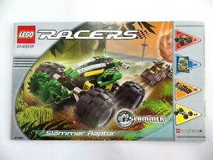 Instructions LEGO Racers Slammer Manuals Instruction Mounting Ref:8469