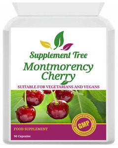 Montmorency Cherry 1500mg (90 Capsules) High Active Strength UK Manufactured