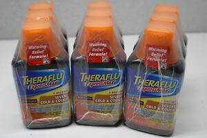 9x Lot Theraflu ExpressMax Daytime Severe Cold & Cough Syrup Berry 8.3oz 11/19