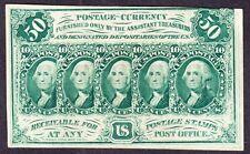 US 50c Fractional Currency w/ Monogram FR 1312 AU