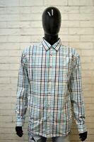 Camicia Uomo HUGO BOSS Taglia 2XL Maglia Manica Lunga Shirt Hemd Slim Quadri