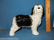 Old English Sheepdog Large lovely ceramic figurine Melba Ware England