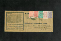 SAUDI ARABIAN WW II Flight Cover to U.S. Hydrographic Office/Navy Dept. via TWA