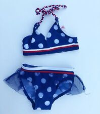 Rugged Bear Girls Bikini Size 12 Months Red White Blue Tulle