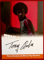SPACE 1999 - TONY OSABA as Security Guard - AUTOGRAPH CARD - Unstoppable 2018