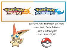 Pokemon Ultra Sun and Moon Pokescrap Event Victini