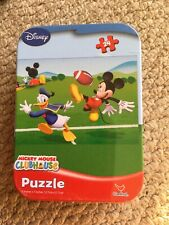 """Jigsaw Puzzles 24 Pieces """"Mickey Mouse : CLUBHOUSE Disney New Sealed In A Tin"""