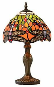 Red Dragonfly with Jewels Table Lamp, Orange/Green PM92