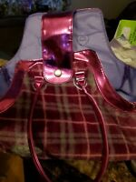 PUCCI PUPS Dog & Carrier Bag Purse Plaid Pink