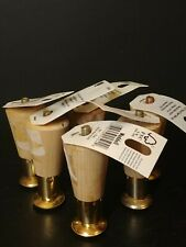 "6 Waddell ~ Hardwood Tapered Round Leg 3 1/2"" ~ Unfinished Furniture Parts ~ New"