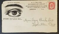 1899 Woodstock New Brunswick Hamilton Ontario Canada Opticians Advertising Cover