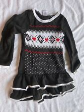 Gymboree girls 4T long sleeve sweater dress snowflakes Christmas holiday size 4