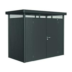 Biohort Highline H1 9ft x 5ft Double Door Metal Shed - High Quality Durable Unit