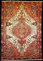 "Oriental Rugs hand knotted, Wool Pile, Antique  ,4' 0"" x 7' 1"""
