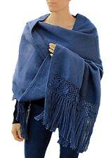 TINKUY PERU 100% Alpaca Peruvian Brushed Wool Woven Flowers Pashmina Shawl Wrap