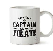 work like a captain play like a pirate  10oz mug gift present cup homeware