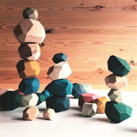 Building Blocks Colored Wooden Stone Balancing Stacked Brick Children's Toy