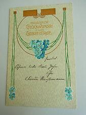 JUGENDSTIL // Präge-AK 1906 // Glückwunsch zum Geburtstag // Prägedruck