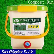 12l Recycle Composter Aerated Compost Bin BOKASHI Bucket Kitchen Food Waste Case