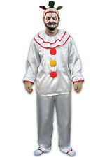 American Horror Story Licensed Twisty The Clown 4 Pc White Poly Satin Costume OS