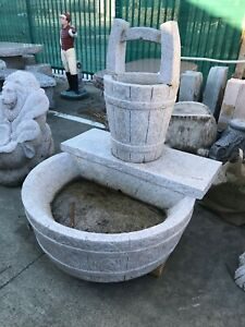 Hand Carved Granite Self Contained Fountain