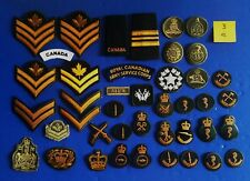 Nice lot  0f 40 + Military Canadian  ranks &  patches  ..