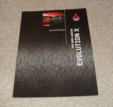 Mitsubishi Lancer Evolution X Brochure 2008 - Evo 10 GS GSR FQ-300 FQ-330 FQ-360