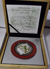 2011 Cook Islands, 10 Dollars, Year of the Rabbit, 100 gram Silver coin Coloured