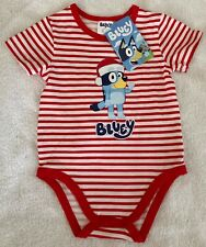 Bluey Christmas Xmas Red Stripes Romper Boy Girl  Sizes 0 1 BRAND NEW WITH TAGS