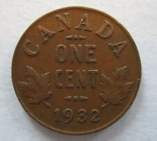 1932 CANADA 1¢ KING GEORGE V PENNY COIN