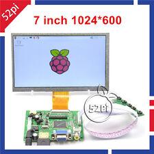 "7"" inch 1024*600 TFT LCD Display Driver Board HDMI VGA 2AV for Raspberry Pi"